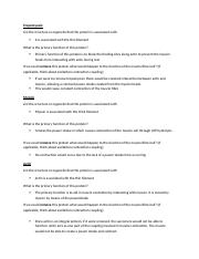 Protein Review Sheet