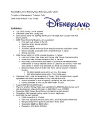 Case Study- EuroDisney