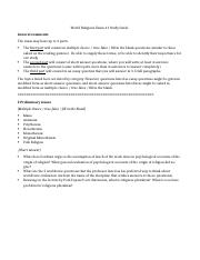 World Religions Exam 1 Study Guide.docx
