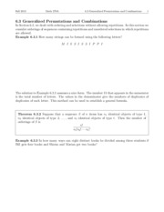 Lecture 6.3 - Generalized Permutations and Combinations
