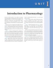 Unit I Introduction to Pharmacology