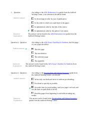 Research paper quiz