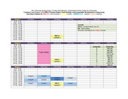 CCCH9031 Teaching Schedule 2014-15