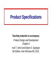 Product_Specifications-Ch6.ppt