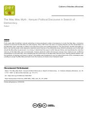Kenyan Political Discourse in Search of Democracy- The Mau Mau Myth.pdf