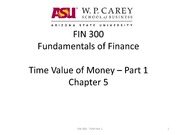 FIN 300 Time Value of Money Part1 Ch5