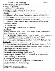 Archaeological Method and Theory Notes