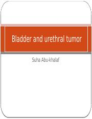 Bladder and urethral tumor.pptx