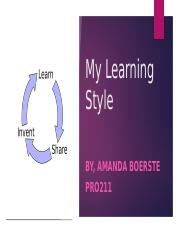 My Learning Style.pptx