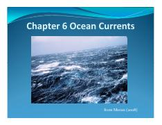 Ch.6 Ocean Currents