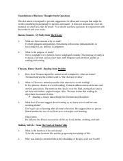Study Questions and Answers