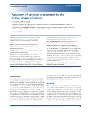 accuracy of cervical assessment in the active phase of labor