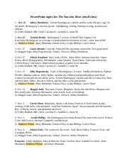 Copy of Stover Hemingway ppt topics 4th small class