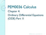 14215_Chapter 4 Part 2 - Ordinary Differential Equation