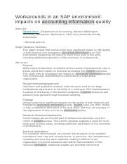 Workarounds in an SAP environment impacts.docx
