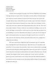 HUMANITIES / REVISED ESSAY