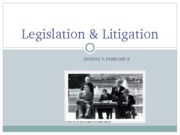 (2) Legislation of Disabilities