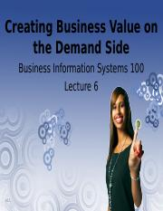 Lecture 06 - CBV on the Demand Side