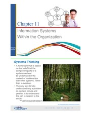 Chapter 11 Information Systems Within the Organization