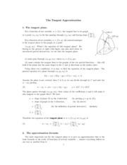 Tangent Approximation study guide