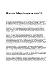 History of Refugee Integration in the UK.docx