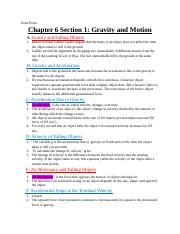 Chapter 6 Section 1 Study Guide - Irene Perez