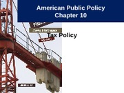 Notes 11 - Tax Policy