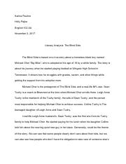 Literary Analysis_ The Blind Side.pdf
