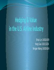 7-CH 19 Hedging and Value in the U.S. Airline Industry