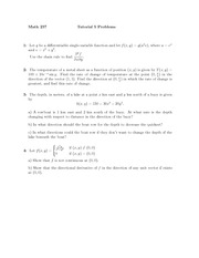 Tutorial 5 problems