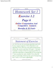 Homework B on Online Algorithms