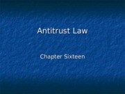 Antitrust Law .ppt