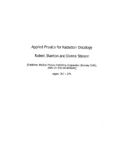 5. Applied Physics for Radiation Oncology