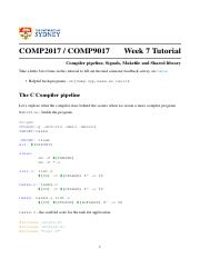 Week 7 - Compiler pipeline, Signals, Makefile and Shared library.pdf