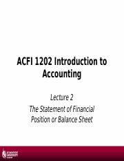 1617 - Lecture 3&4 - aThe Statement of Financial Position.pptx