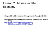 Lesson+7--Money+and+the+Economy