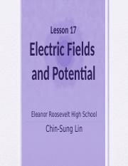 Presentation Lesson 17 Electric Fields and Potential.pptx