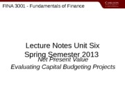 3001SET06Spring13_Capital_Budgeting