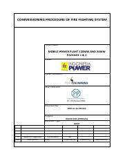 Project This document Inform steps of Installation Fire Pump on site