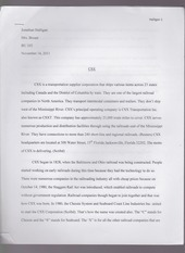 essay on csx company