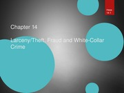 Chapter 14 Larceny White Collar Crime