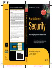 Apress Foundations of Security Feb 2007