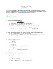 Math 206 MATLAB Assignment 1.docx