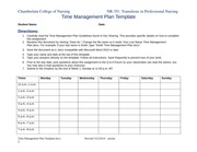Time management plan template 032314 nr351 time for Nursing time management template