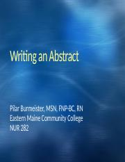 Writing an Abstract.pptx