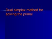 L17_Dual simplex method for solving the primal