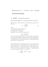 Physics 8.01 Pset 11 Solutions
