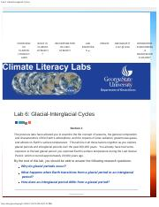 Lab 6_ Glacial-Interglacial Cycles _