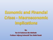 UNITAR-Economic and Financial Crises - Macroeconomic Implications