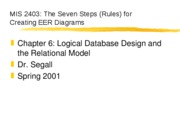 Seven Steps for EER Diagrams Ch 6